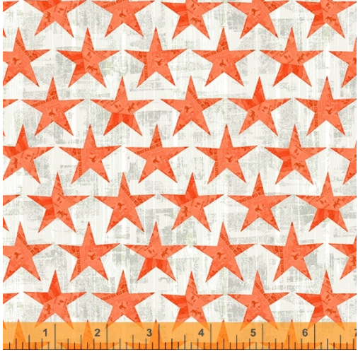 Desert Cowboy Cream Wood Plank Stars Digital Fabric by the yard