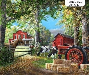 COUNTRY HOME FARM SCENE PANEL