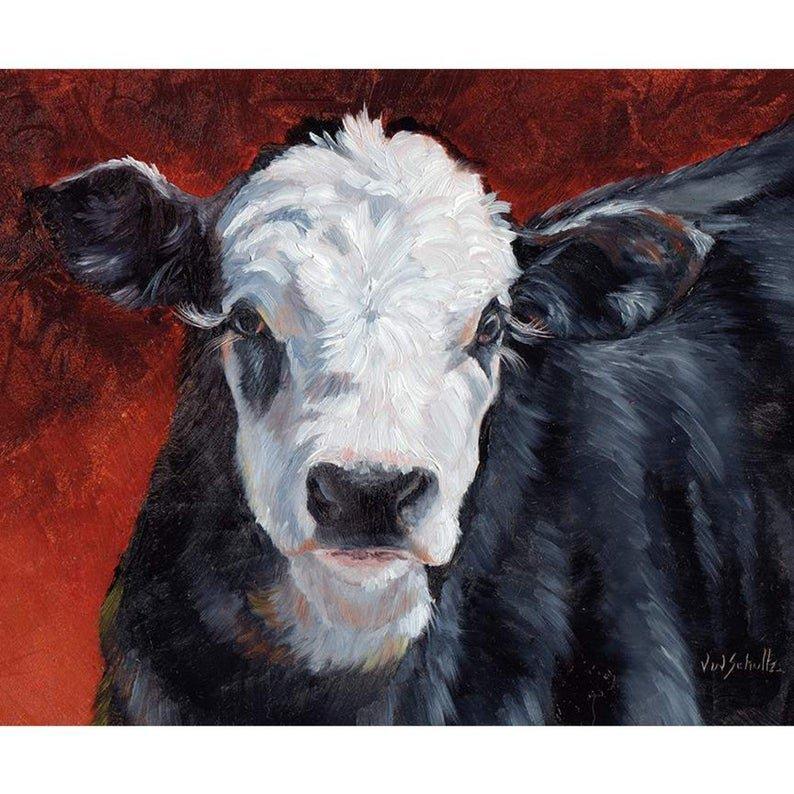 Barnyard Friends Calf Panel