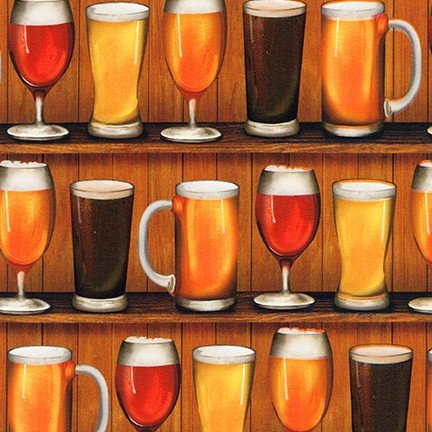 Beer Novelty CELEBRATION Fabric by the Yard