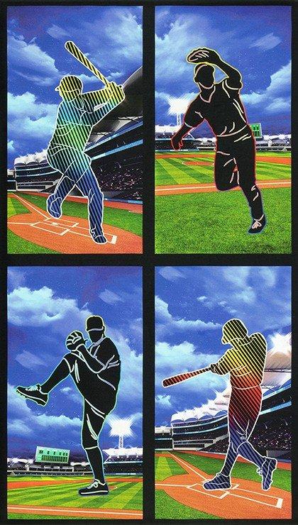 Baseball Player Fabric Panel Sports Life 5 SRKD-19132-205 MULTI