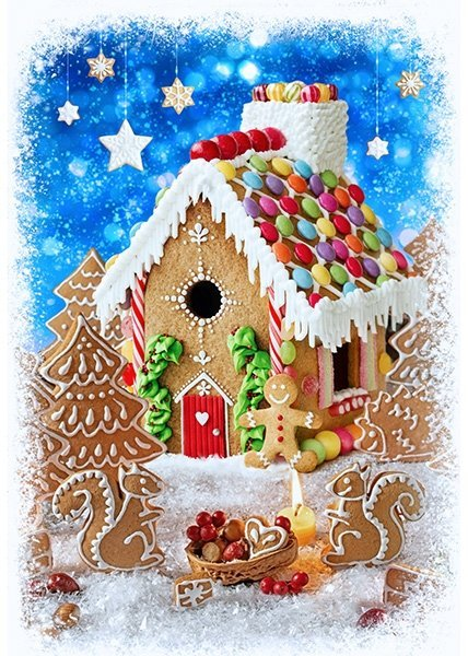 Gingerbread House 31 Panel
