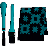 Oh So Clean Brush and Cloth Set