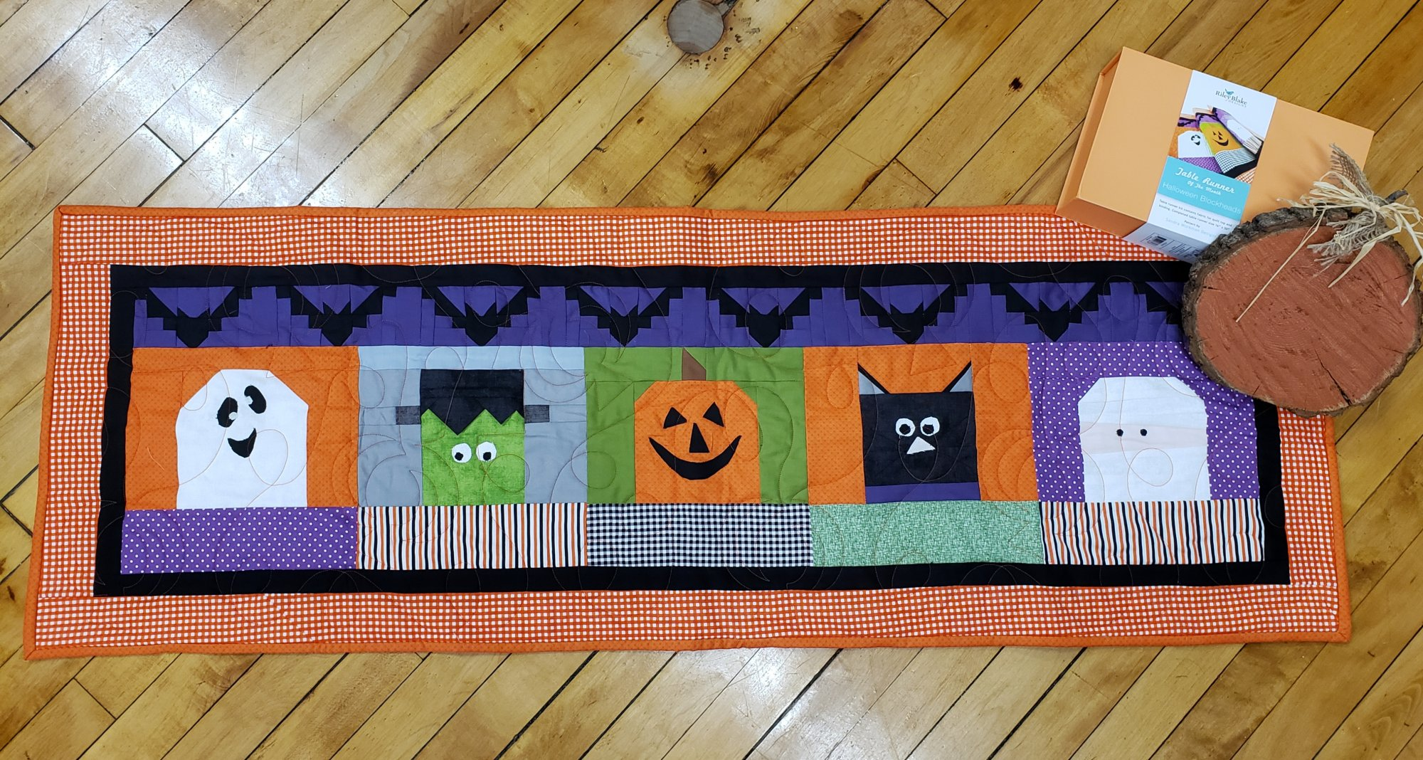 Halloween Blockheads Table Runner of the Month