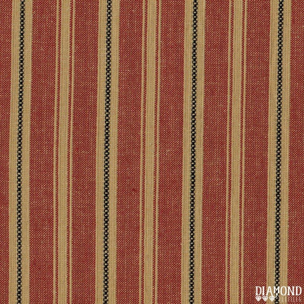 Diamond Textiles AM-52 Tea dyed red stripe