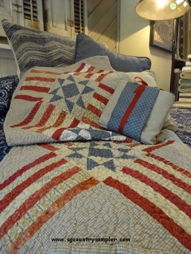 Liberty Stars Table Runner by Country Sampler