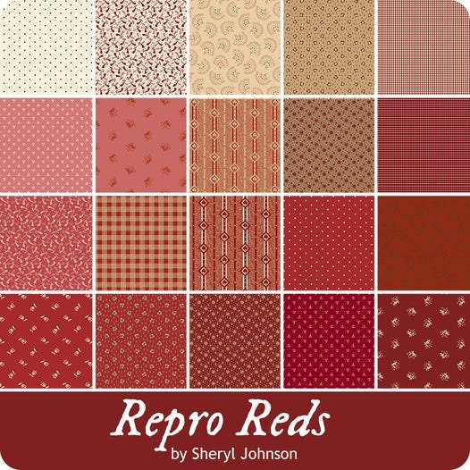 Repro Reds by Sheryl Johnson - 10 squares