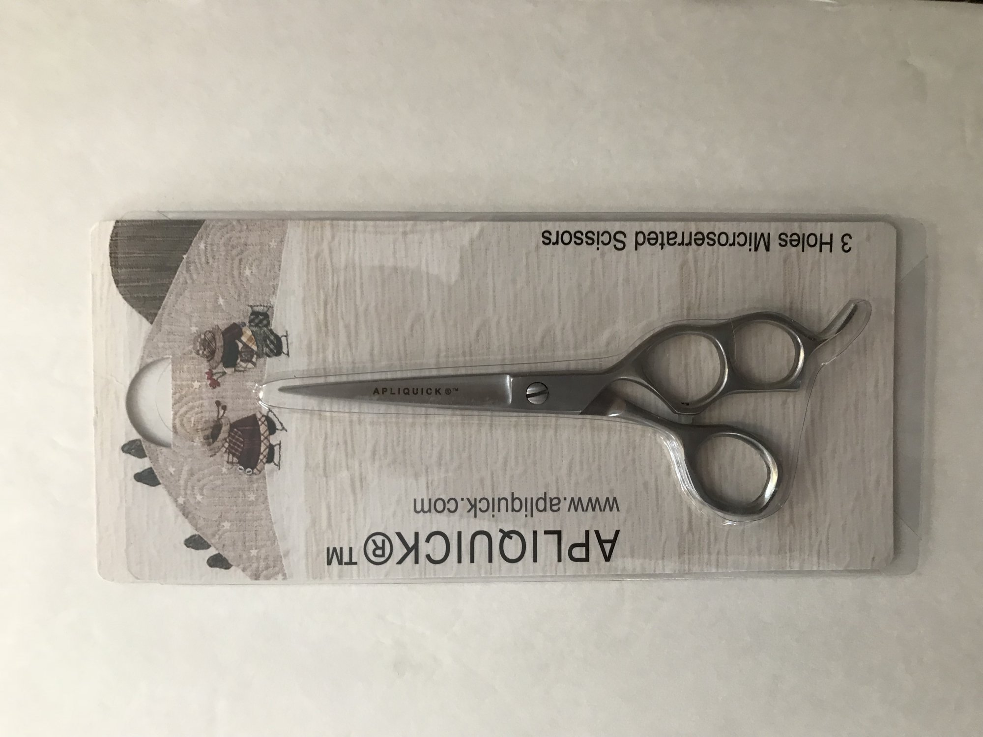 Apliquick 3 hole Microserrated Small Scissors