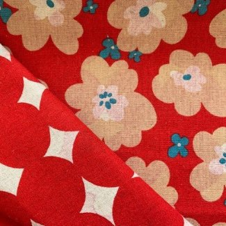 double-sided linen/cotton from Japan