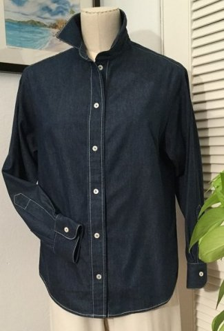The Blouse Perfected in denim