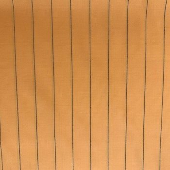 orange pinstripe wool