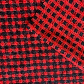 red and black wool check