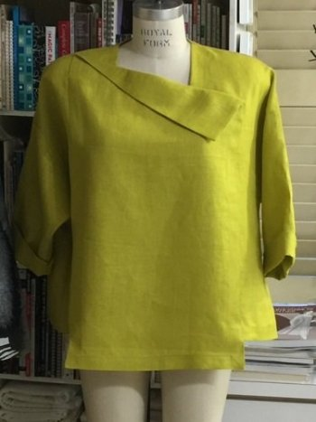Color Me Chic top in green linen