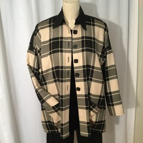 A Subtle Twist in wool plaid