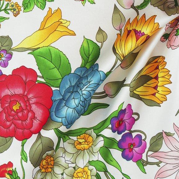 Silk charmeuse print-FF-00778