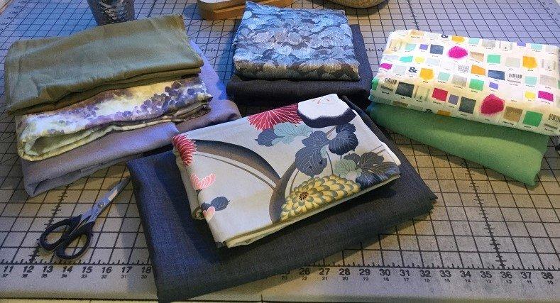 fabrics on table