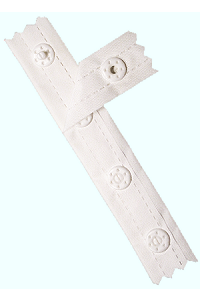 1 1/4 yd White Snap Tape (precut)
