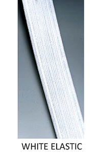 Soft Stitch Through Elastic (WHITE)