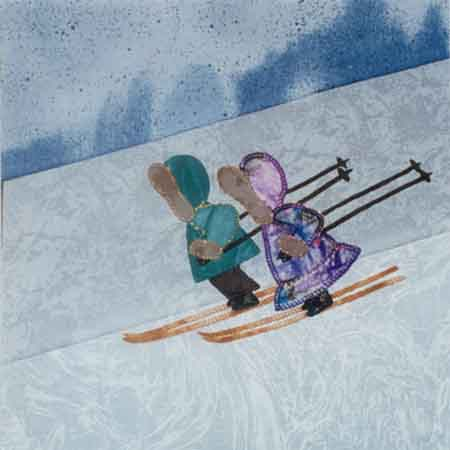 Skiing 10 x 10 Pattern