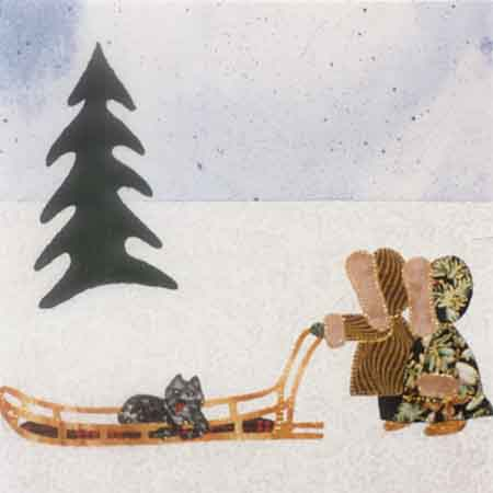 Dog Sled 10 x 10 Pattern