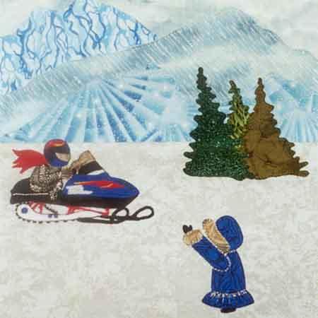 Snowmobiling 10 x 10 Pattern