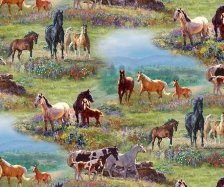 ELIZ MLT WILDFLOWER HORSE AO