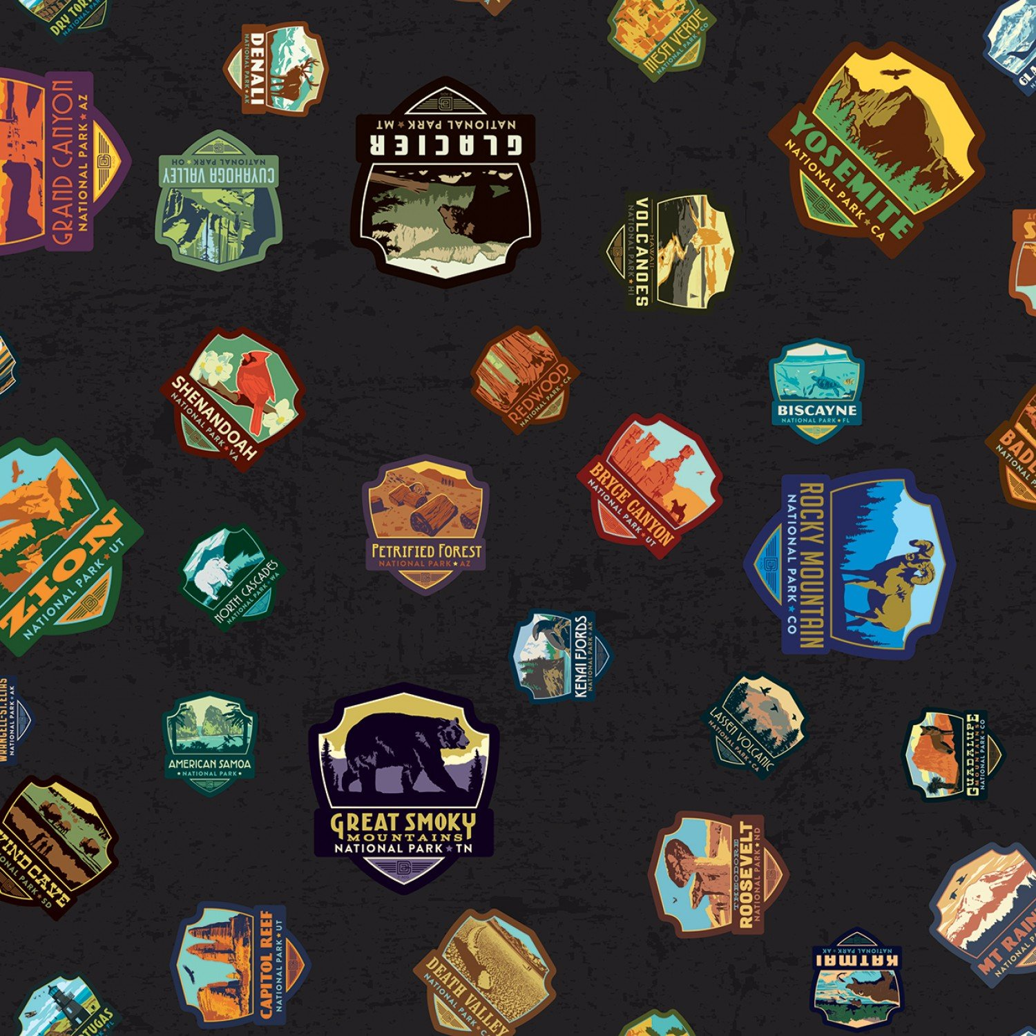 National Parks Patches Black