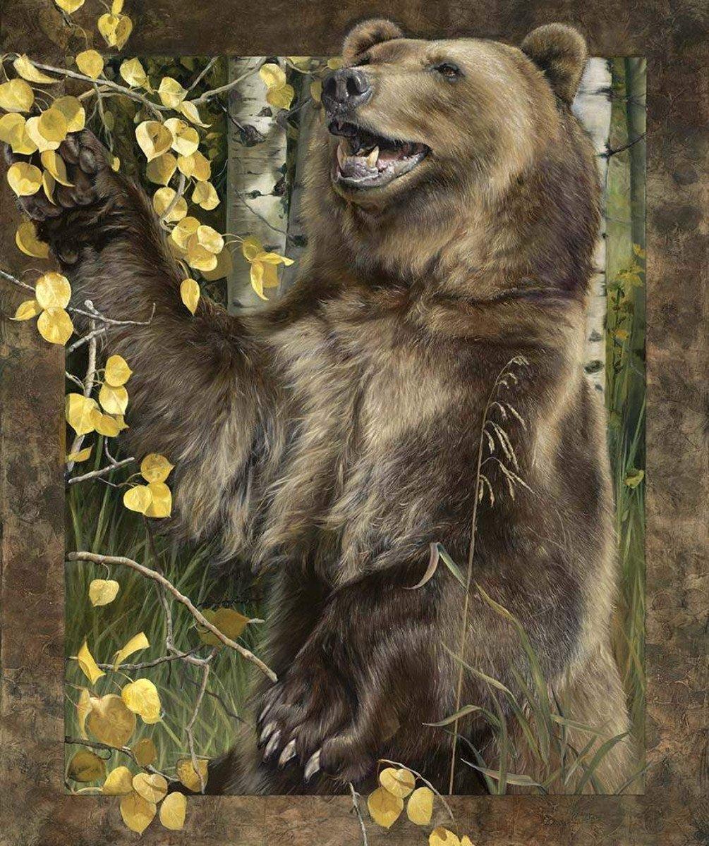 Wild & Playful Bear Panel