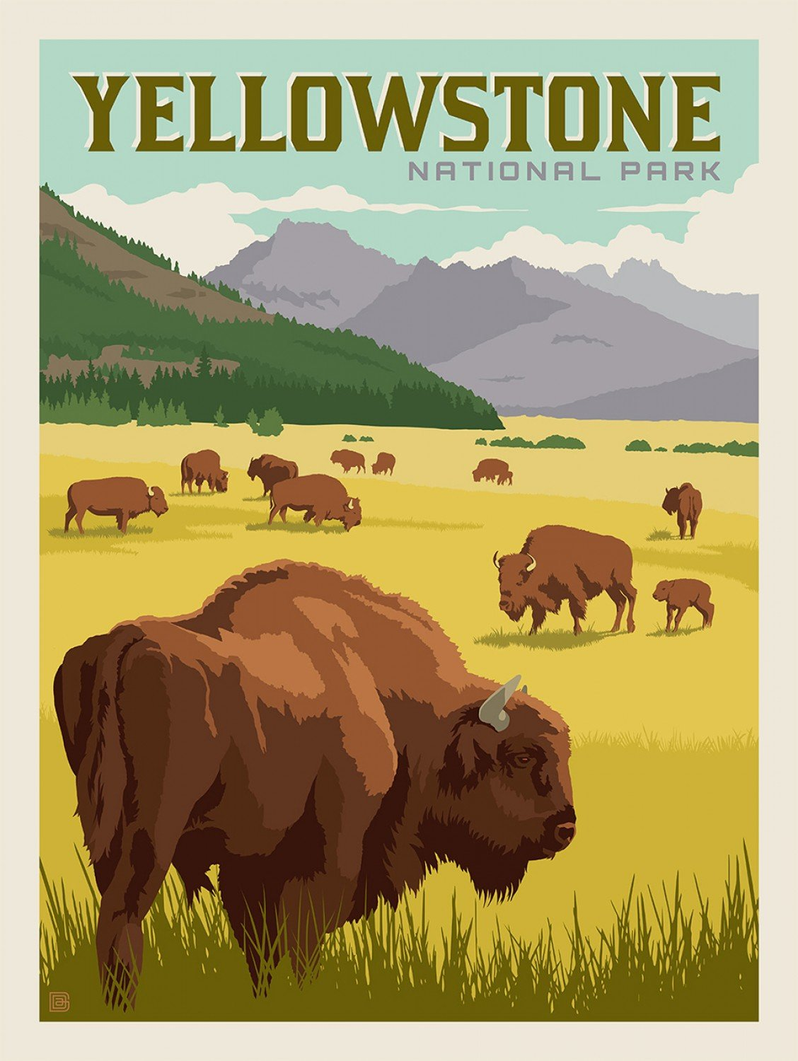 National Parks Poster Panel Yellowstone