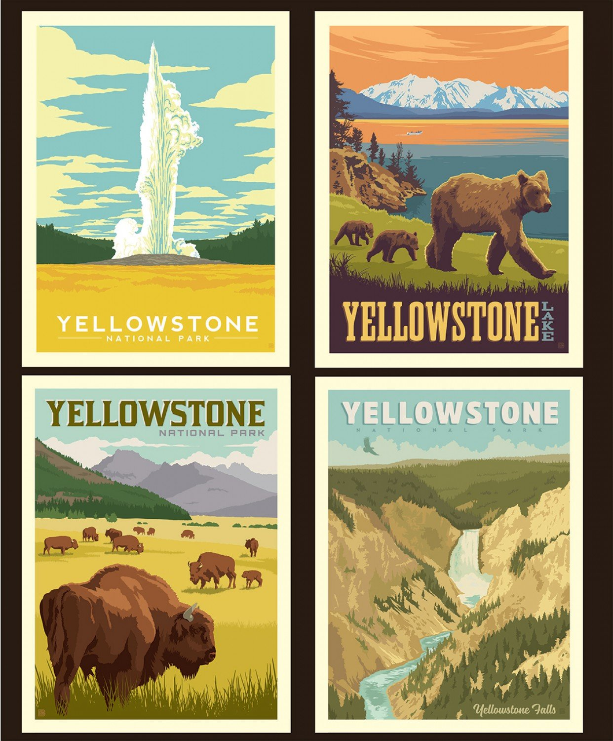 National Parks Pillow Panel Yellowstone