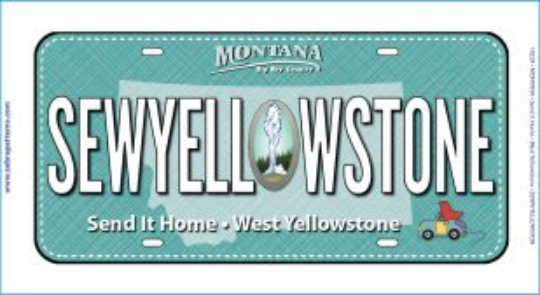 SEW YELLOWSTONE LICENSE PLATE