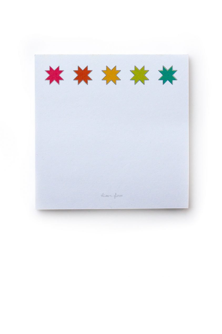 Alison Glass Quilt Star Sticky Notes
