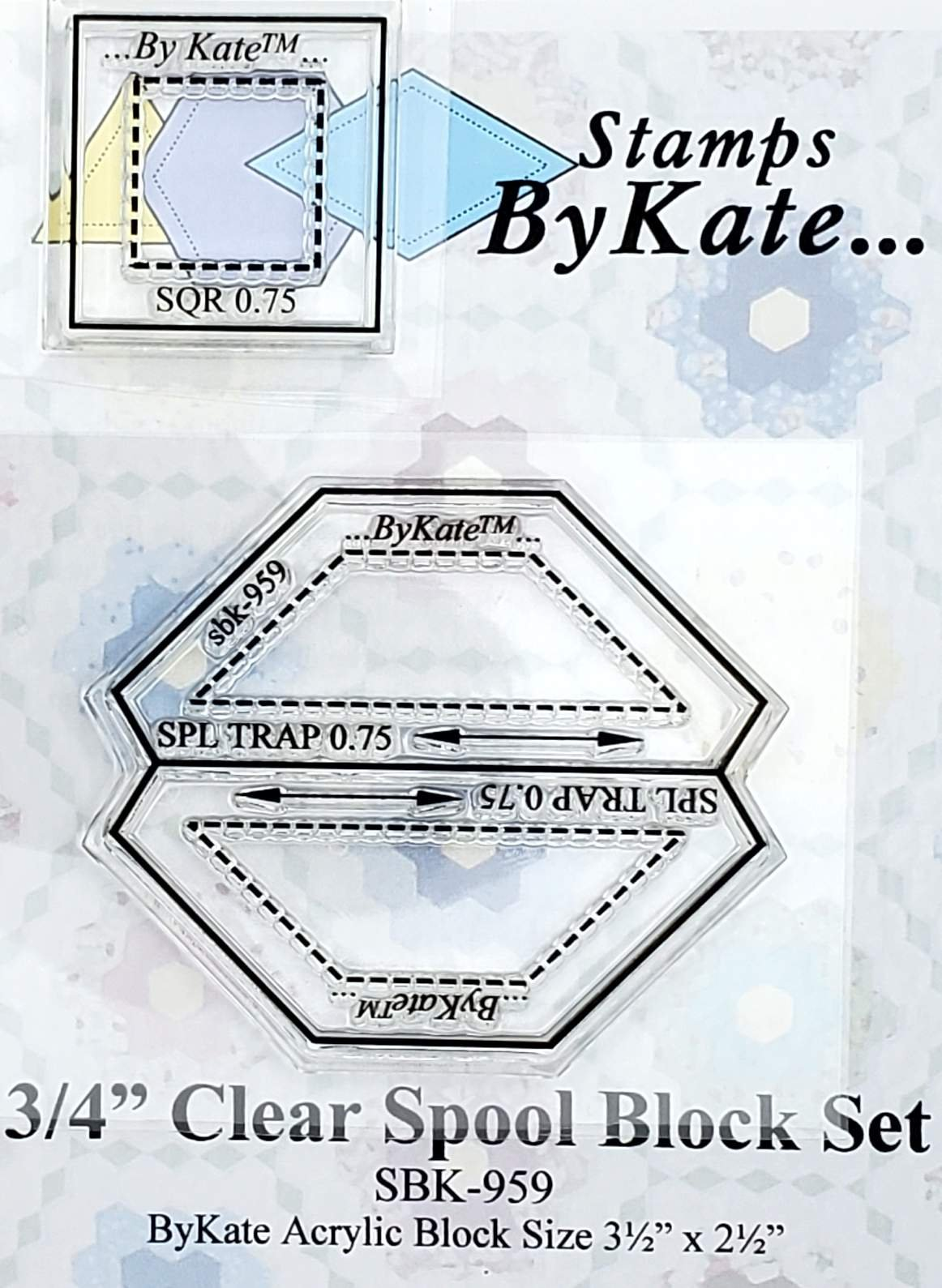 Clear Spool Set Stamps