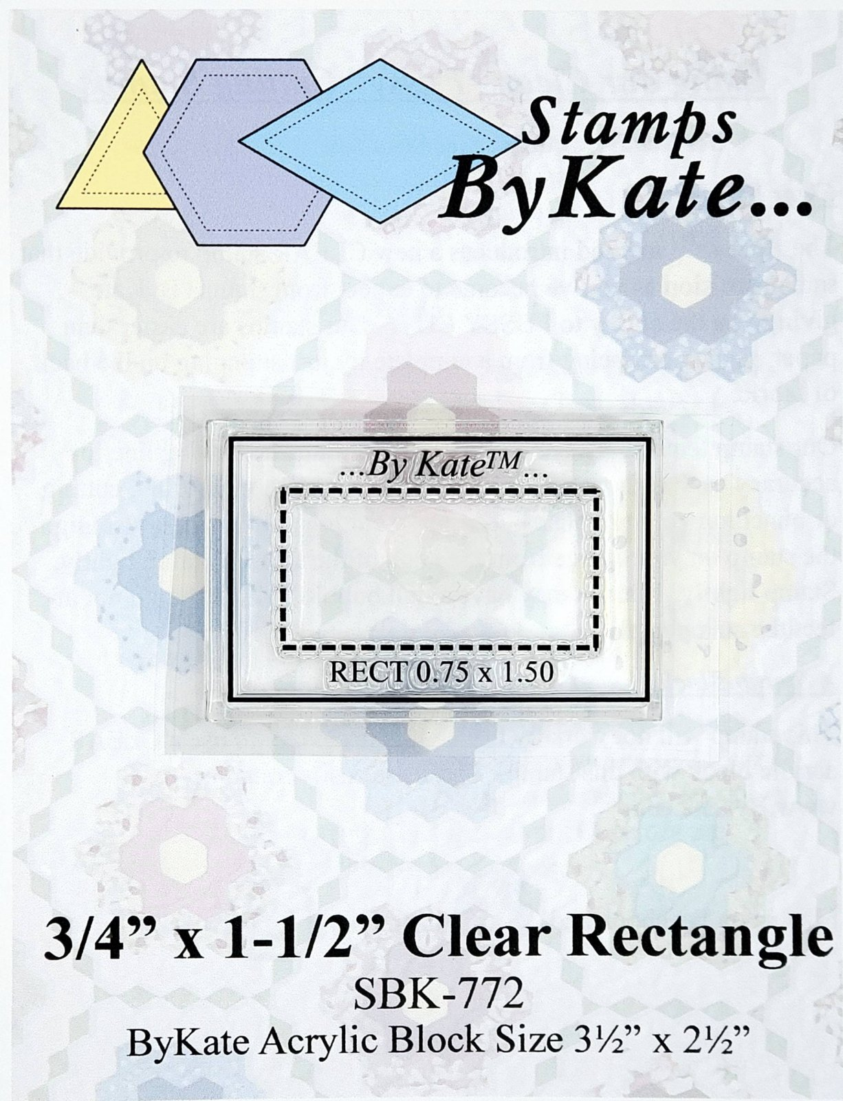 Clear Rectangle Stamp