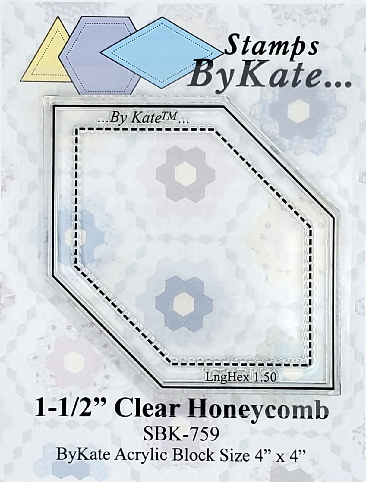 Clear Honeycomb/ Long Hexagon Stamps