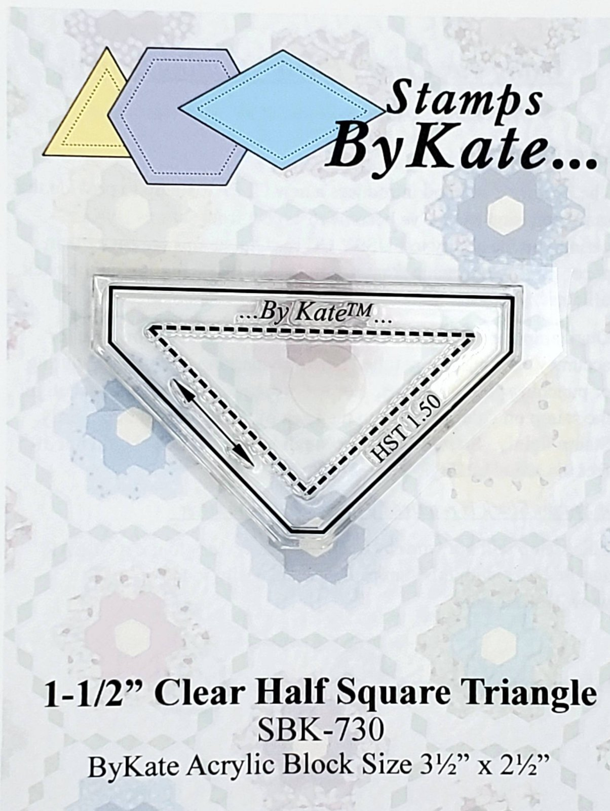 Clear HST (Half Square Triangle) Stamps