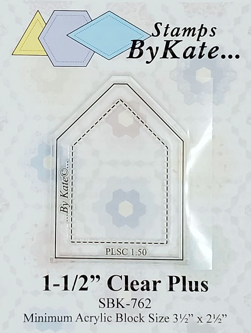 Clear Plus Stamp  - 1-1/2 inch long