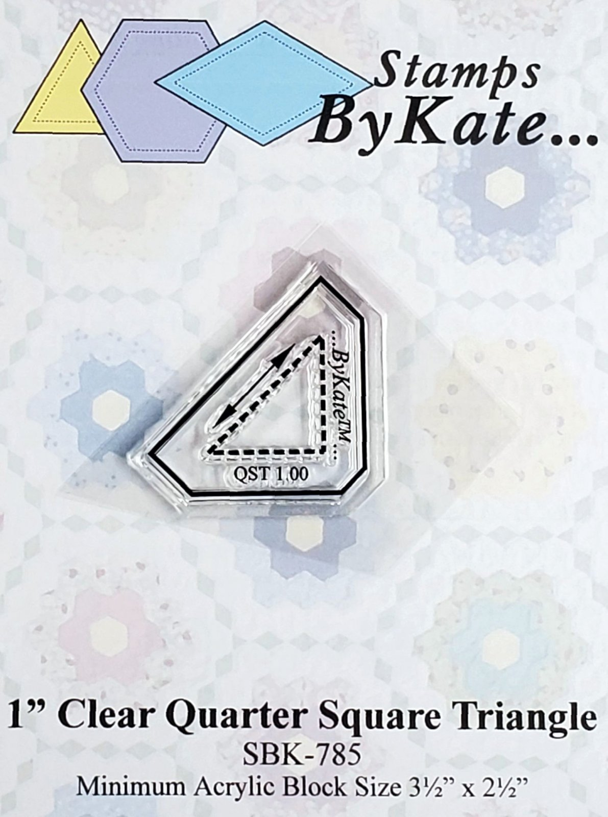 Clear QST (Quarter Square Triangle) Stamps