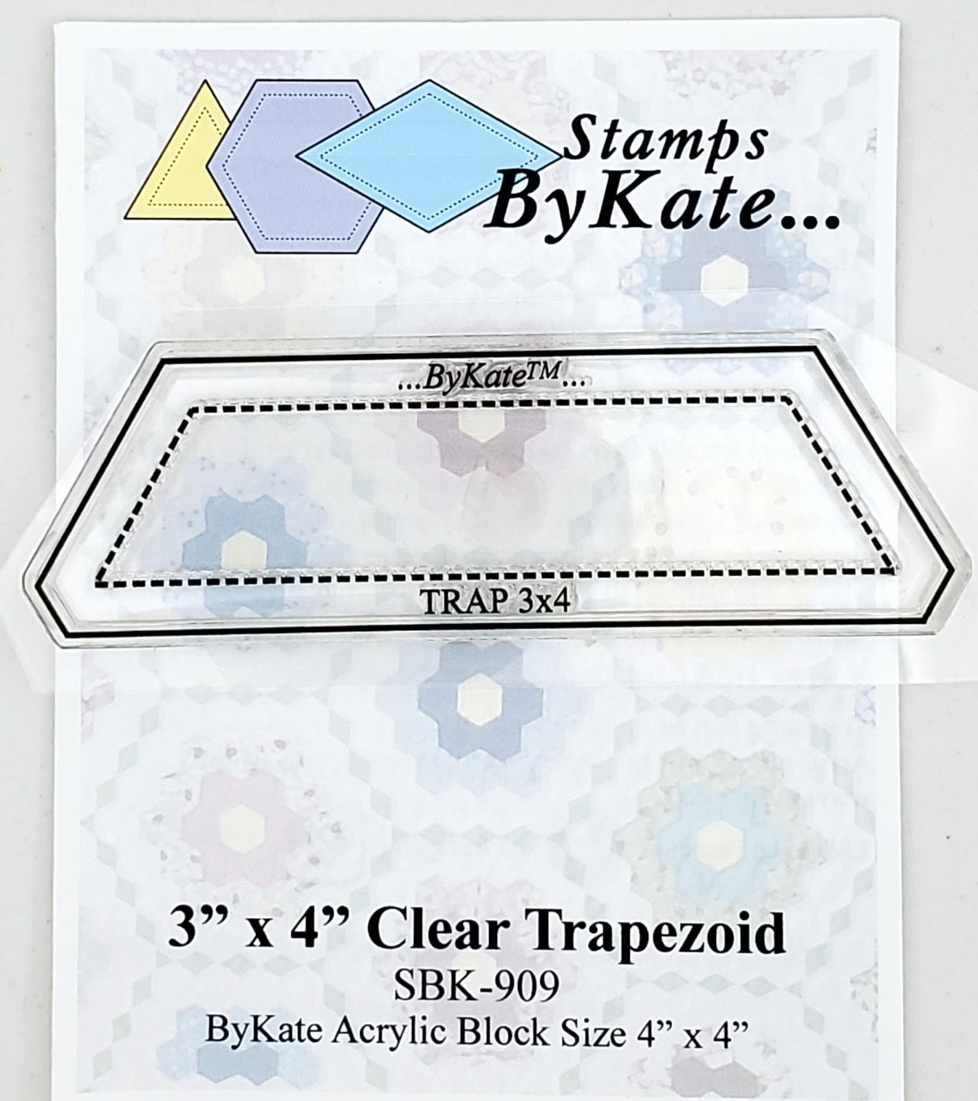 Clear Trapezoid Stamps