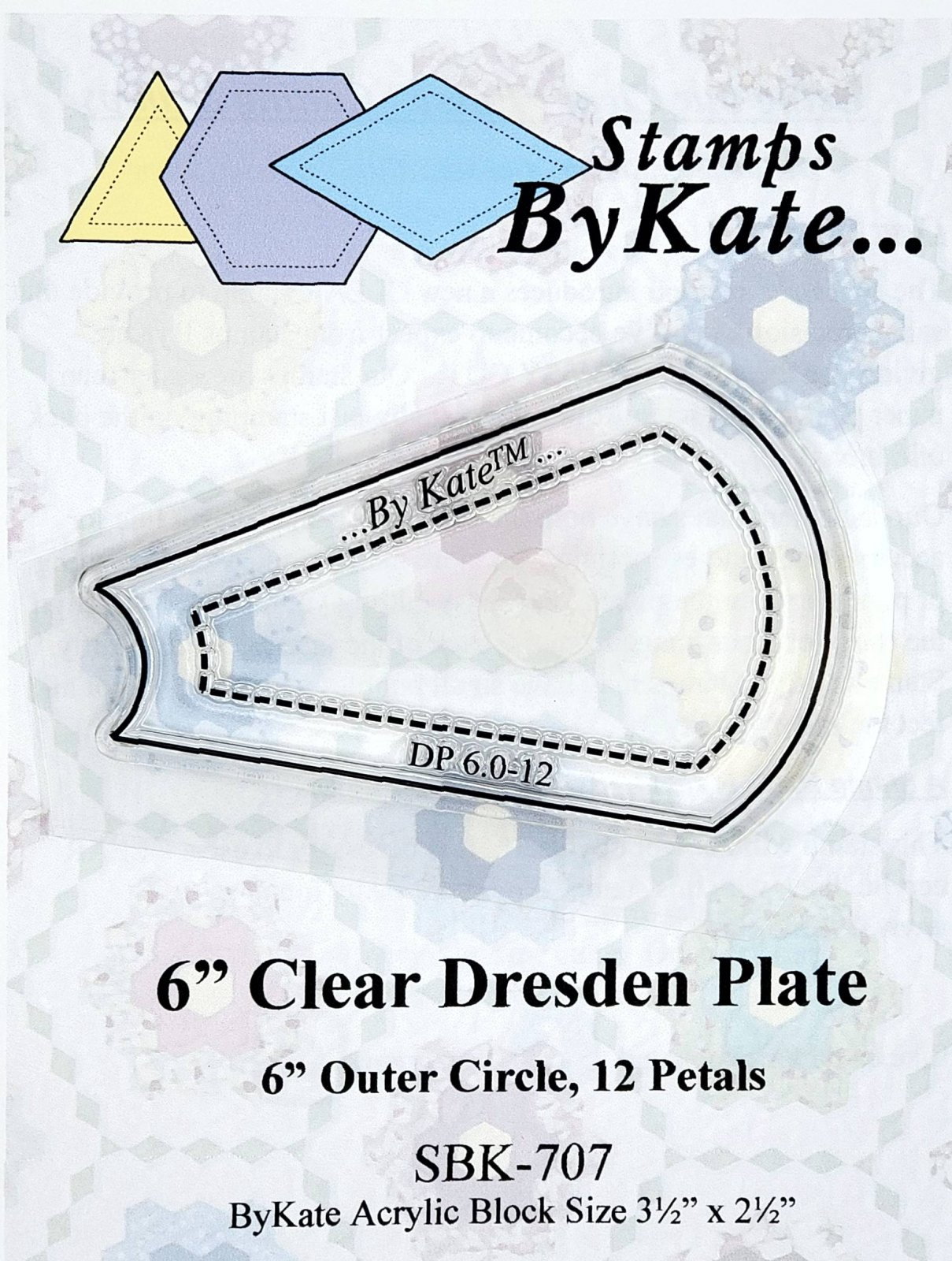 Clear Dresden Plate Stamps