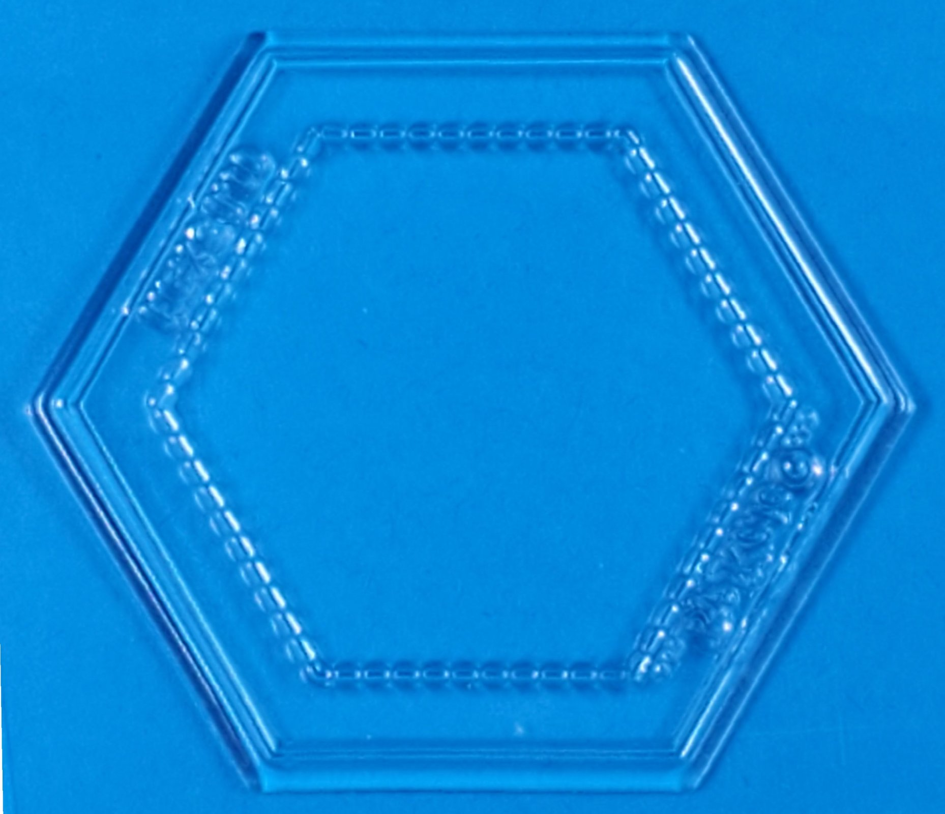 *CLEAR* Hexagon Stamps