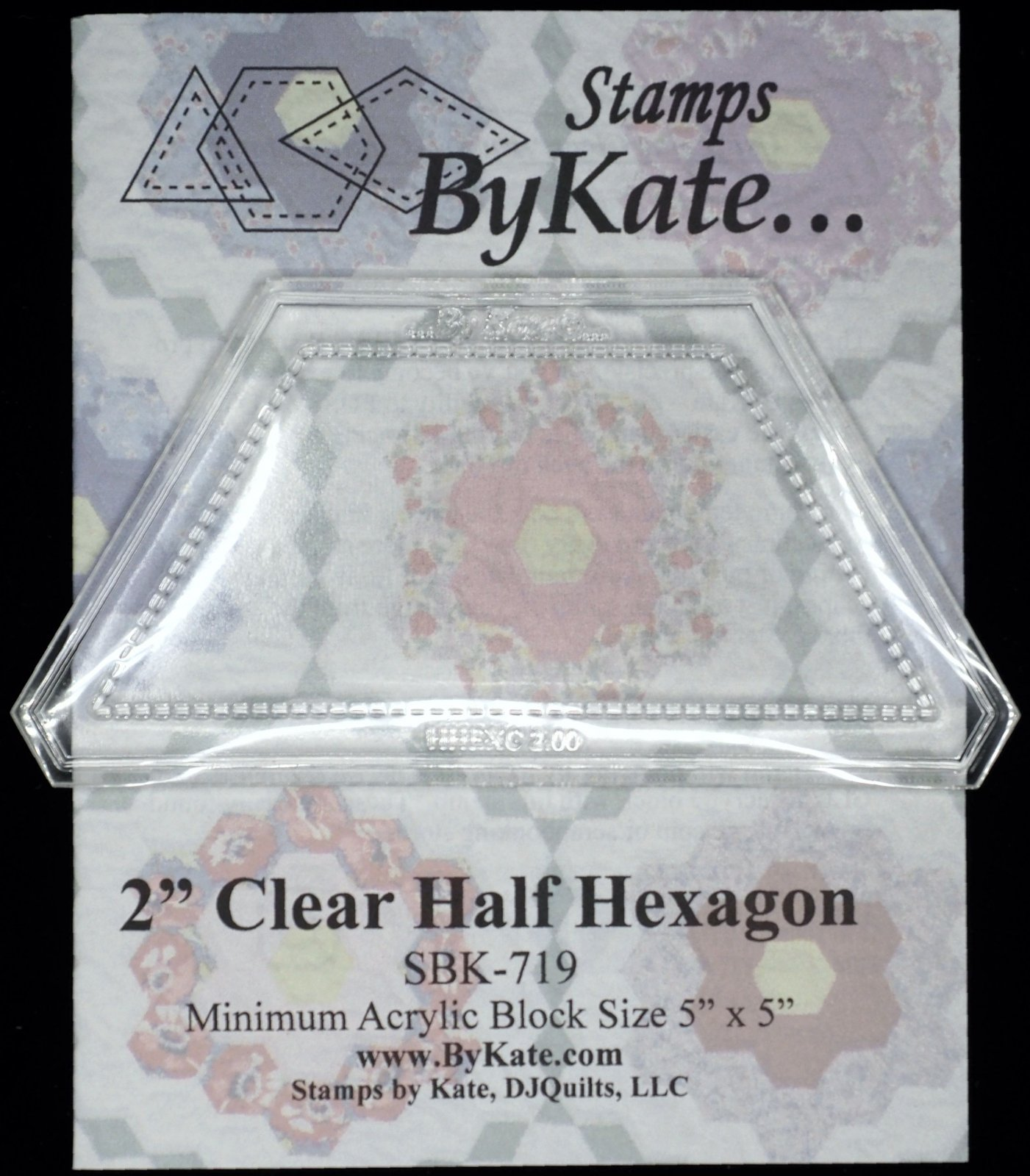 Clear Half Hexagon Stamps