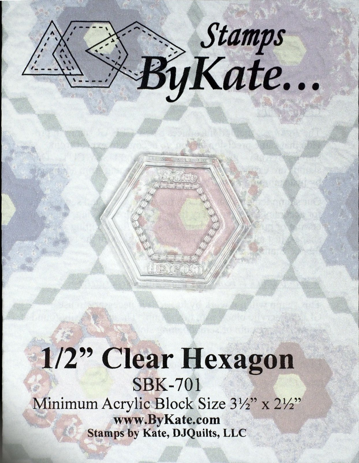 Clear Hexagon Stamps
