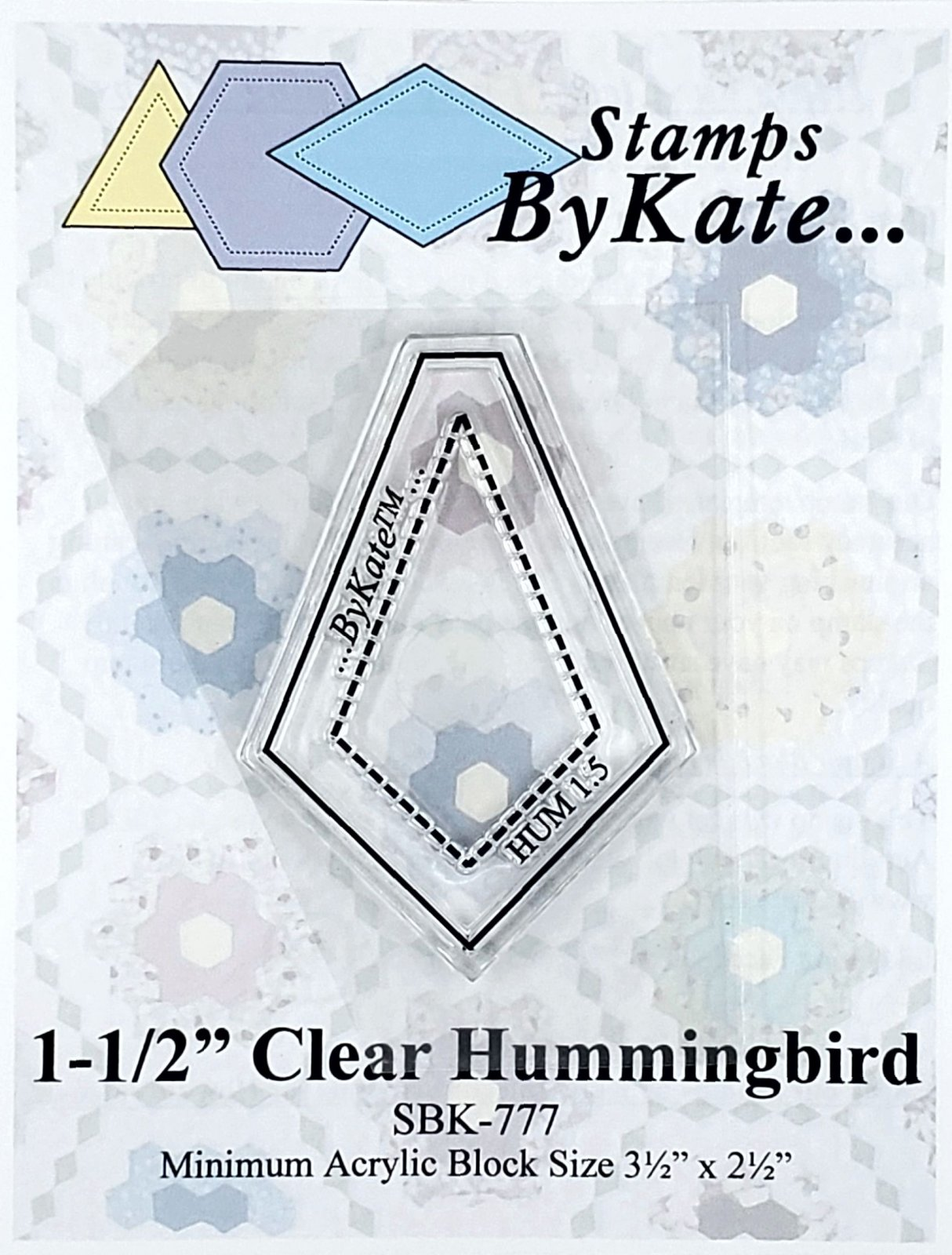 Clear Hummingbird Stamp