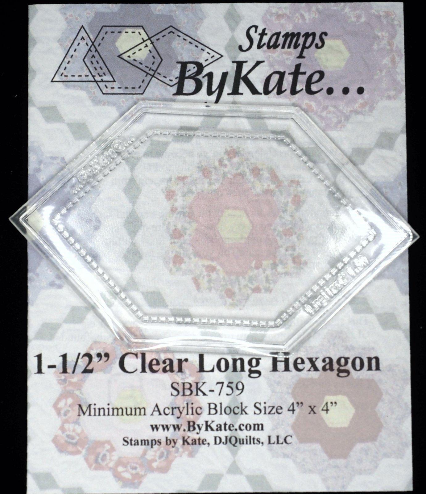 Clear Long Hexagon 1-1/2 inch