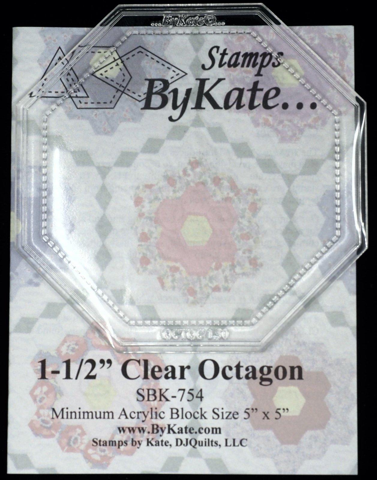 Clear Octagon 1-1/2 inch
