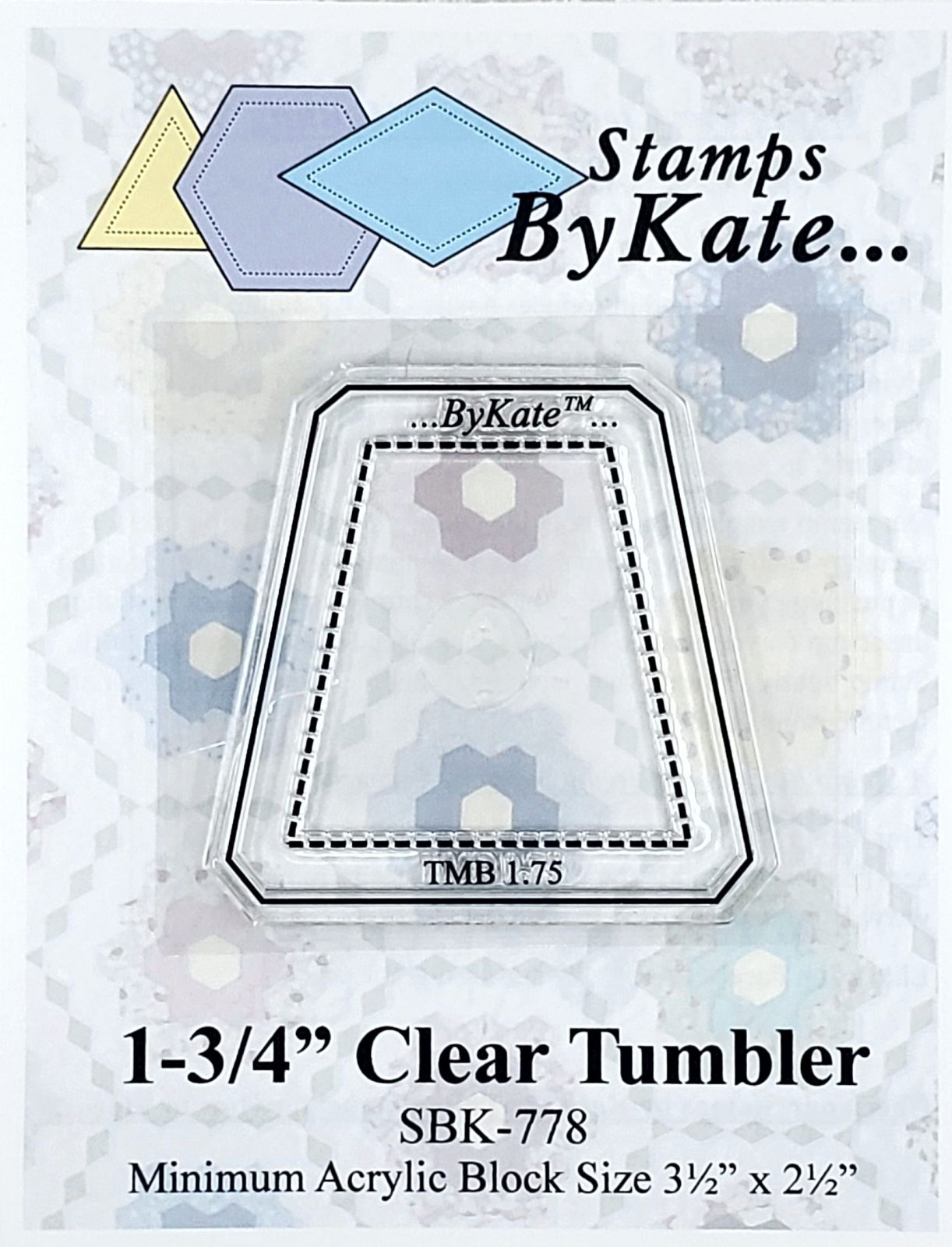Clear Tumbler Stamp