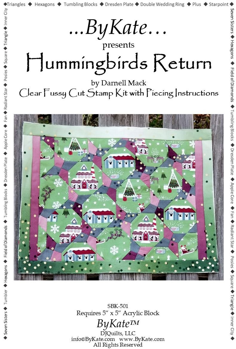 Clear Hummingbirds Return Stamp Kit & Piecing Instructions