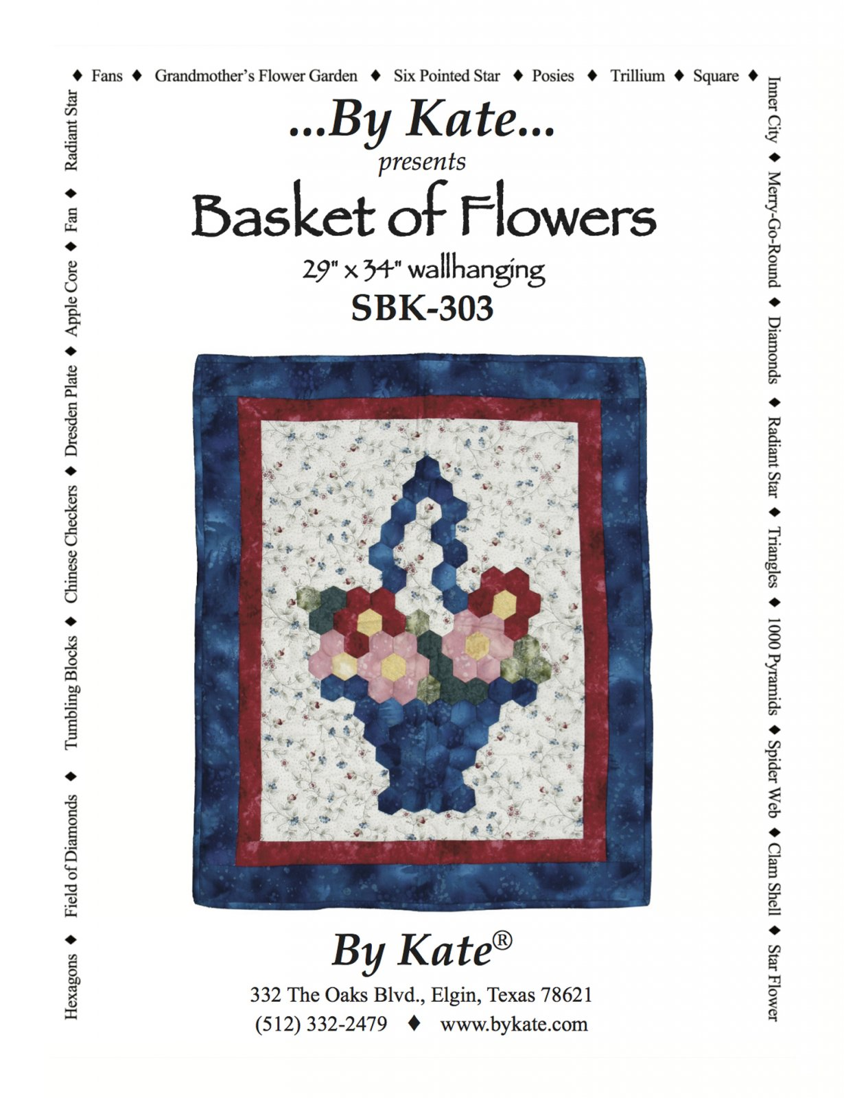 Basket of Flowers Wall Hanging