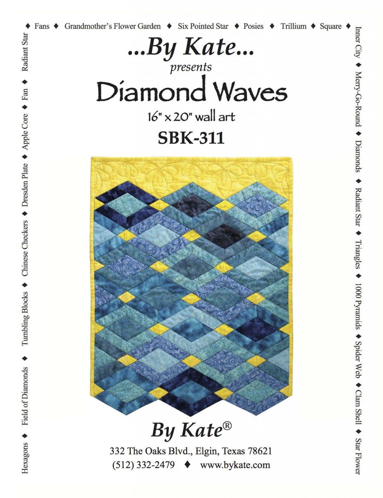 Diamond Waves Wall Hanging